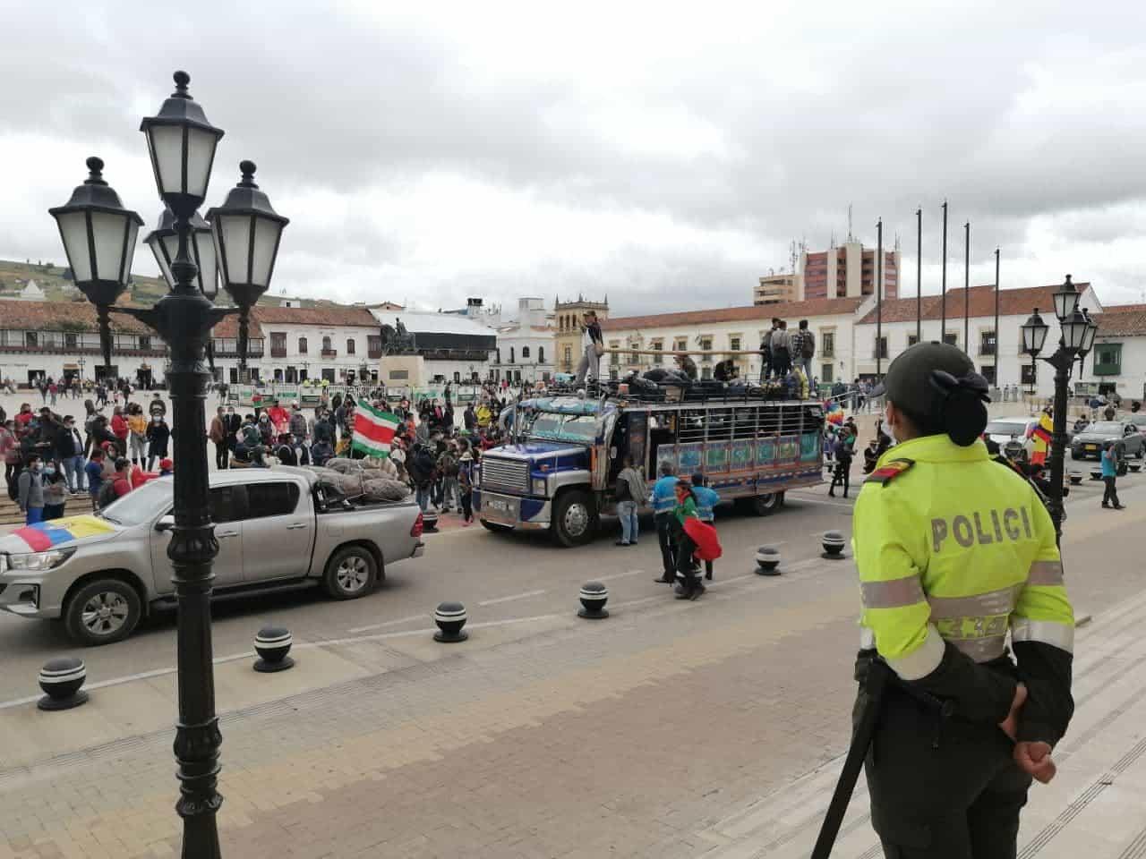 La minga indígena que viene del Cauca llegó a Tunja tras ocho días de recorrido rumbo a Bogotá 1