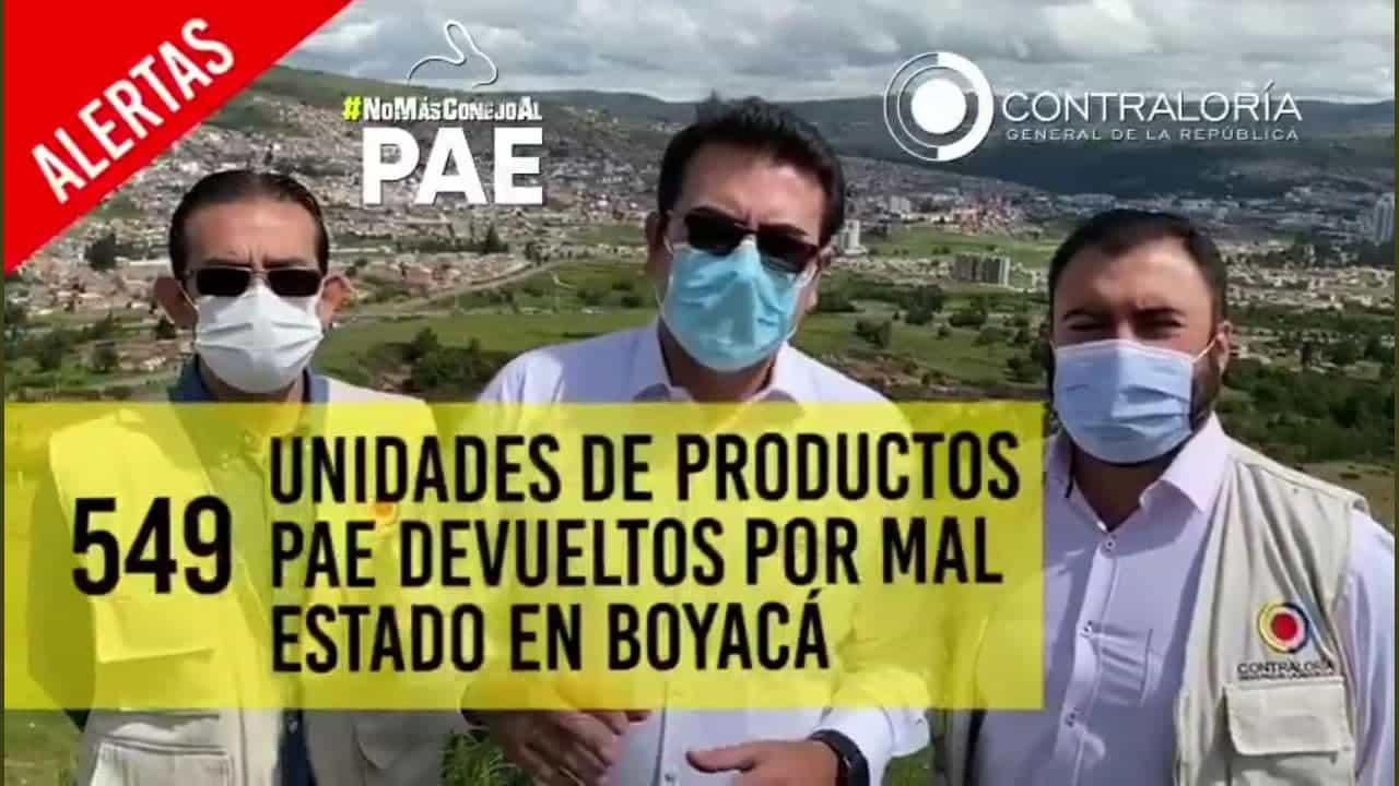 'No más conejo al PAE' en Boyacá #Tolditos7días 1
