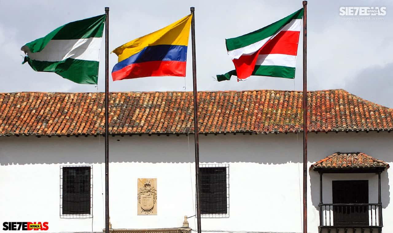 Bandera de Tunja. Foto: Luis Lizarazo / archivo Boyacá Siete Días.