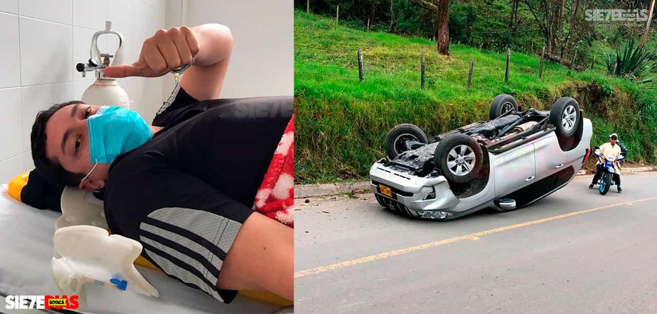 Carlos Ernesto Fajardo Castiblanco, el personero de Coper, es atendido en el Hospital de Buenavista, tras sufrir un accidente de tránsito cuando se dirigía a Tunja.