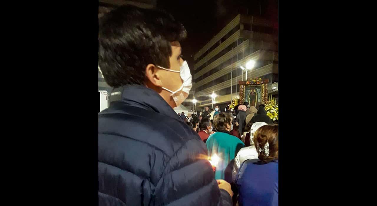 David Ortega, el único que madrugó a pedirle a la Virgen el milagrito #Tolditos7días 1
