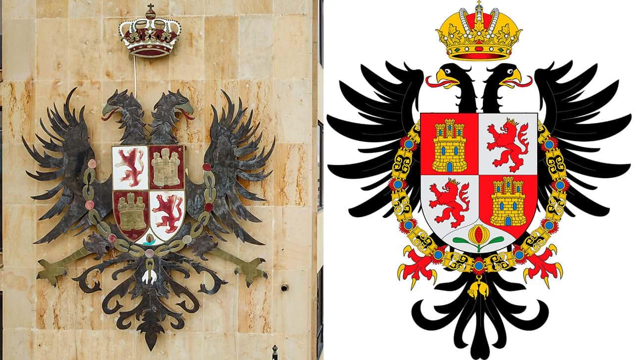 Escudos de Tunja y Toledo España. Fotos: archivo particular.