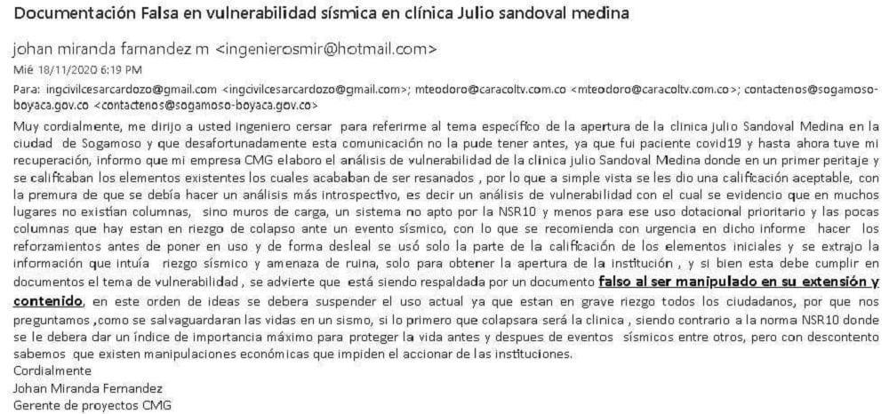 Estalla escándalo alrededor de la Clínica Julio Sandoval Medina 3