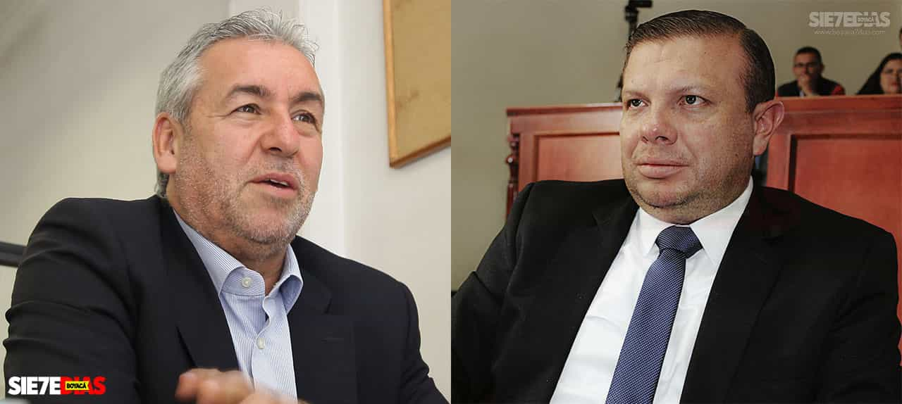 Jorge Eduardo Londoño y Pedro Pablo Matallana. Fotos: archivo Boyacá Siete Días.