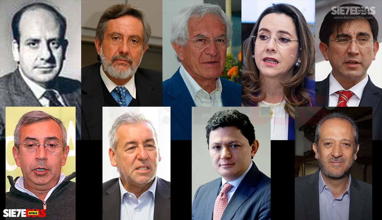 En total nueve boyacenses, por lo menos han ocupado carteras ministeriales, siete de ellos como ministros y dos como viceministros, desde mediados del siglo pasado.