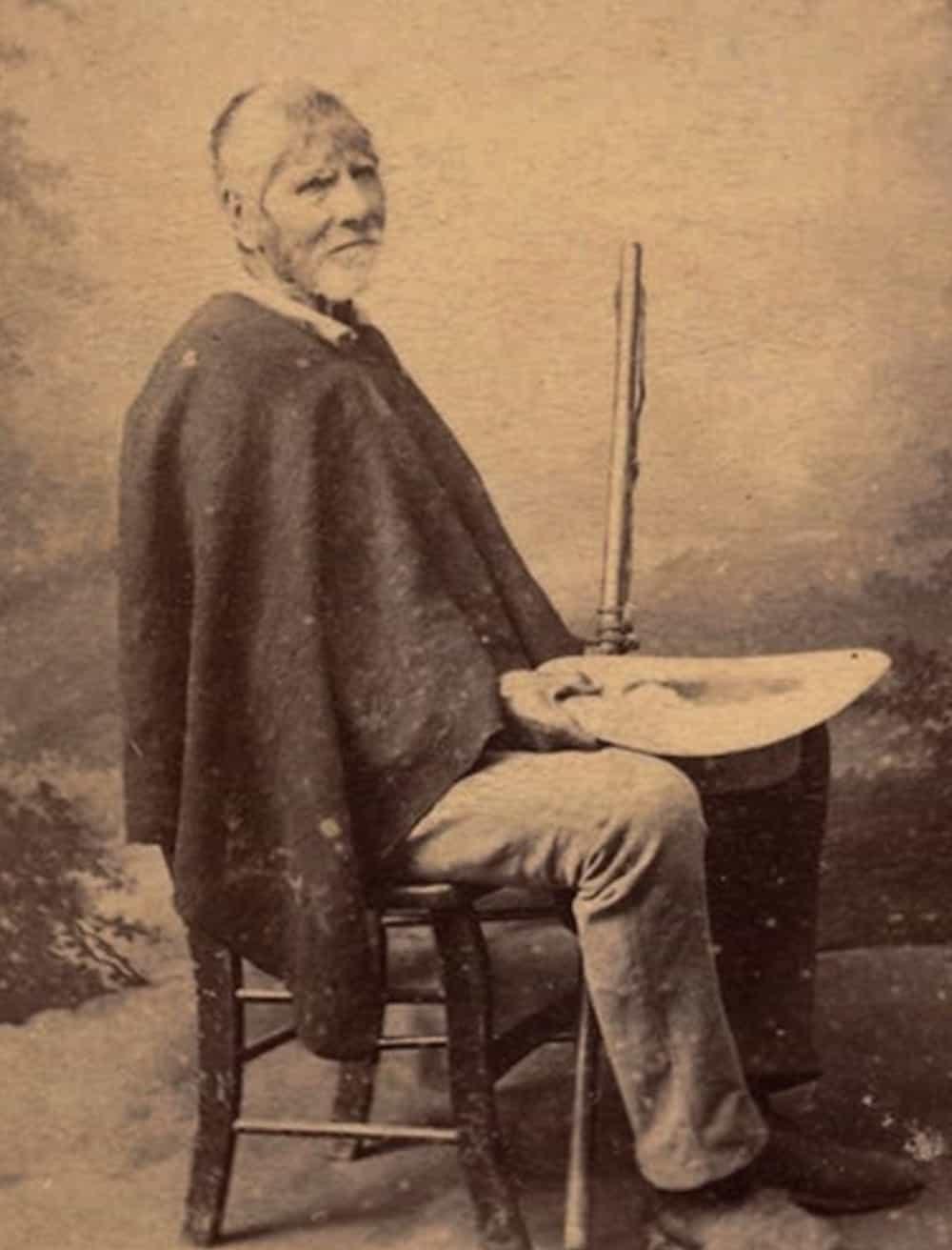 Fotografía de Pedro Pascasio Martínez Rojas en su ancianidad, con la humildad en que siempre vivió. Foto: archivo particular