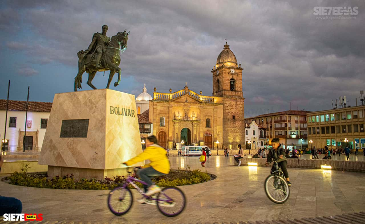 Plaza de Bolívar de Tunja. Foto: Camilo / archivo Boyacá Siete Días.