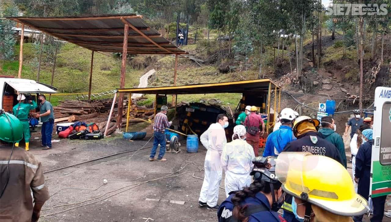Una víctima mortal y 10 personas desaparecidas, el saldo hasta ahora de accidente minero en Boyacá 1