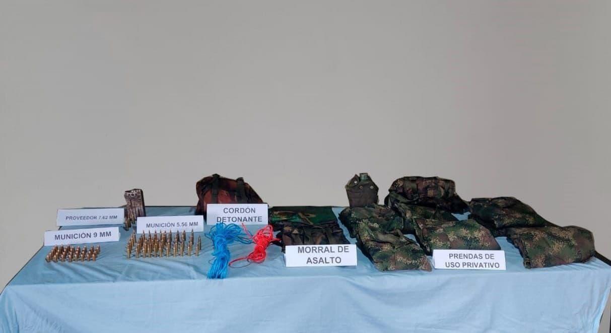 El Ejército desmanteló depósito de material de guerra del Eln en Boyacá 1