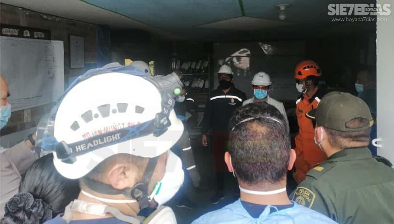 Una víctima mortal y 10 personas desaparecidas, el saldo hasta ahora de accidente minero en Boyacá 2