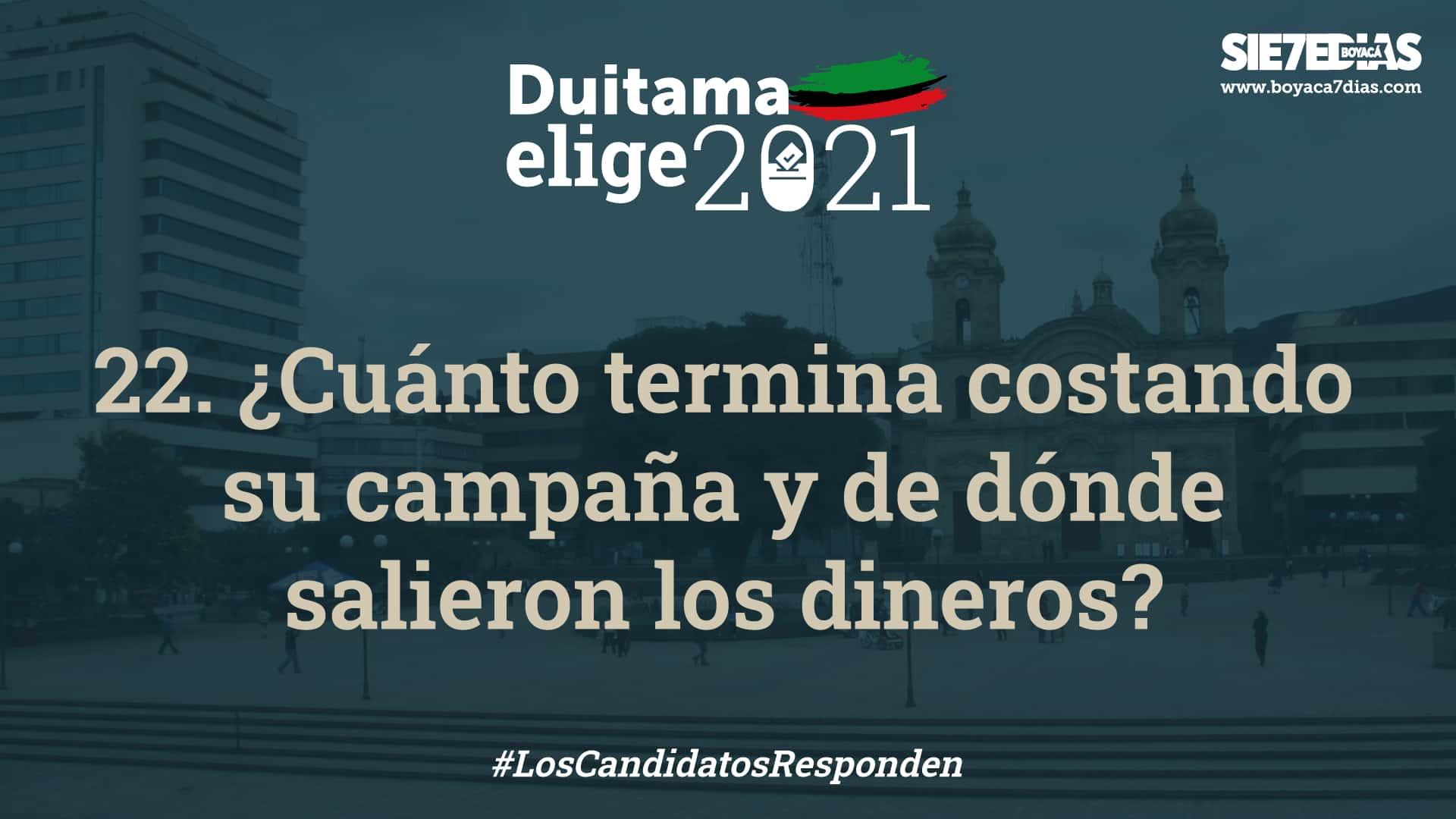 ¿Cuánto termina costando la campaña de cada uno de los nueve candidatos a la alcaldía de Duitama? Ellos nos contaron. 1
