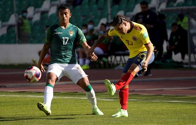 1-1. Saucedo salva a Bolivia de perder ante Colombia en La Paz 1