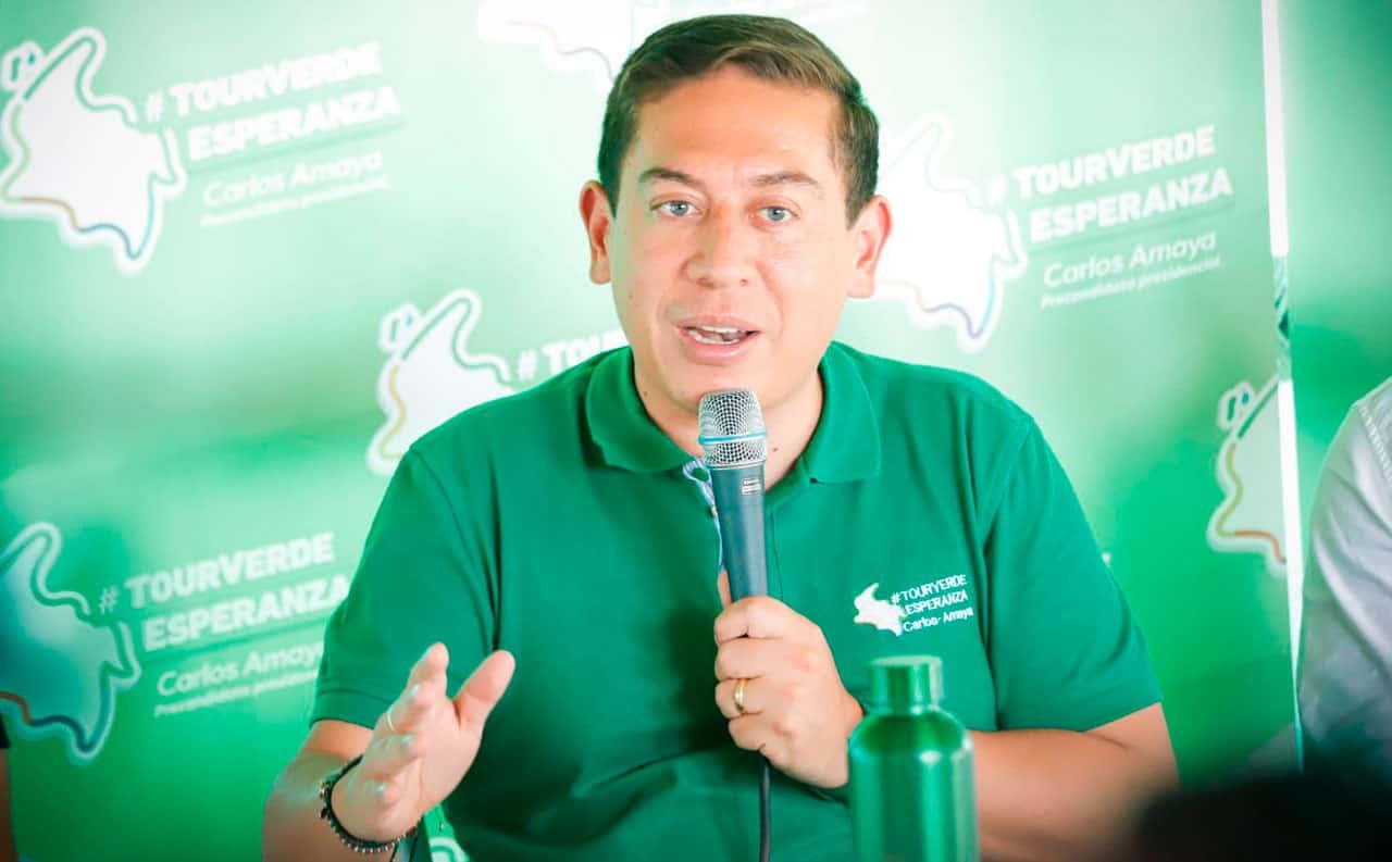 La amenaza que hizo el precandidato presidencial Carlos Amaya  #Tolditos7días