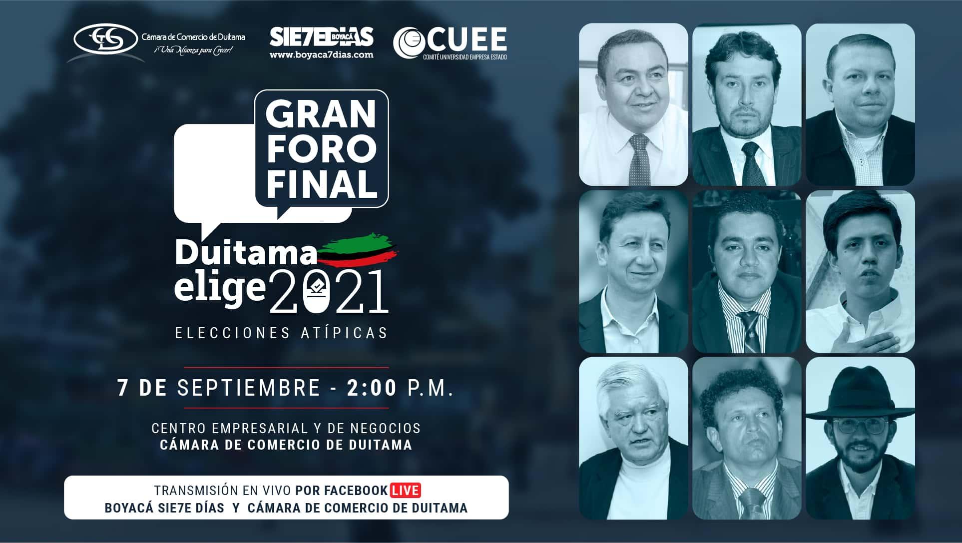 ¿Qué es el Gran Foro Final? El Presidente de la Cámara de Comercio de Duitama lo explica con detalle en #LaEntrevista7días 2