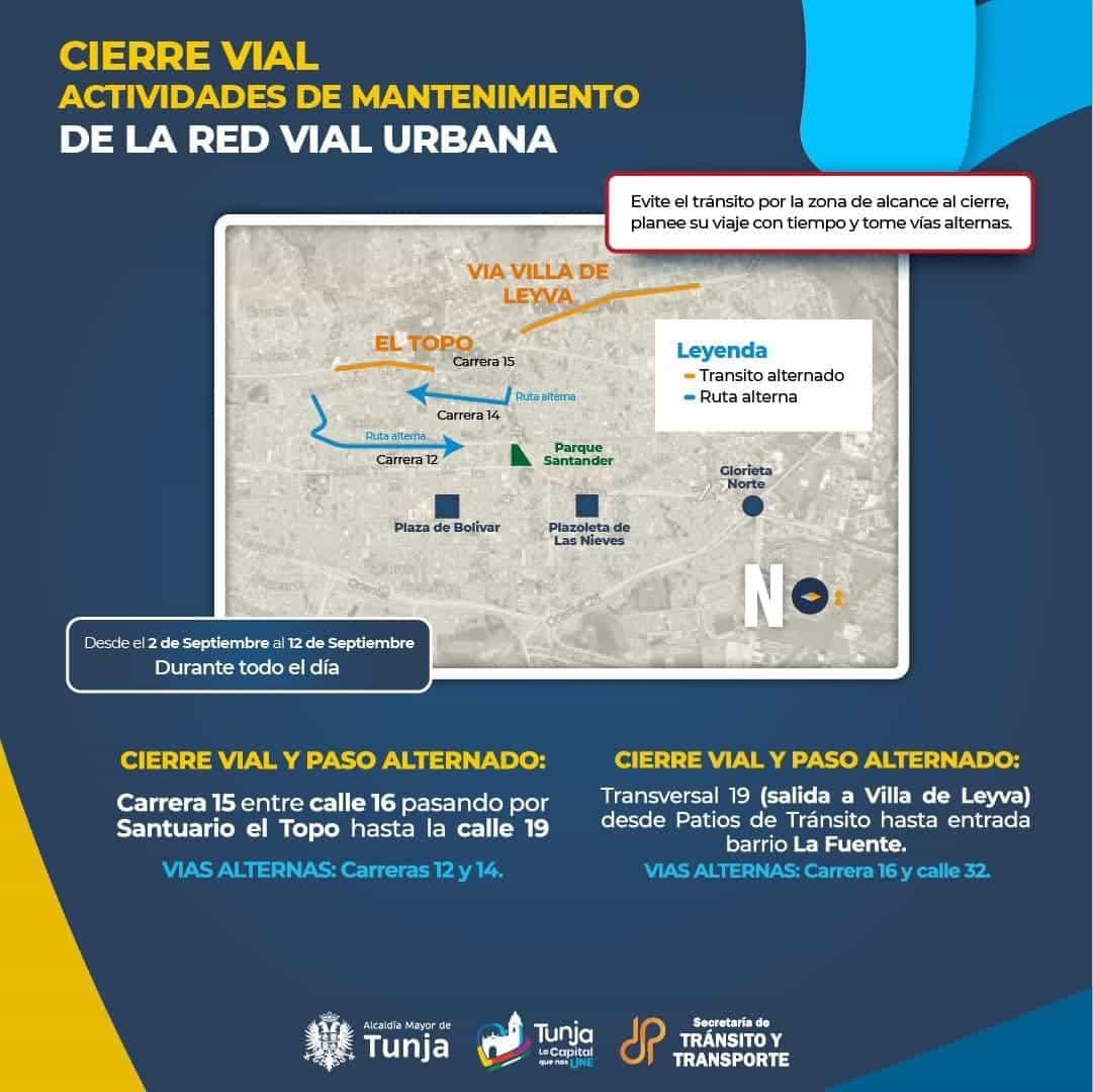 Tenga en cuenta que este jueves arranca el plan de mantenimiento vial en Tunja, busque vías alternas 2