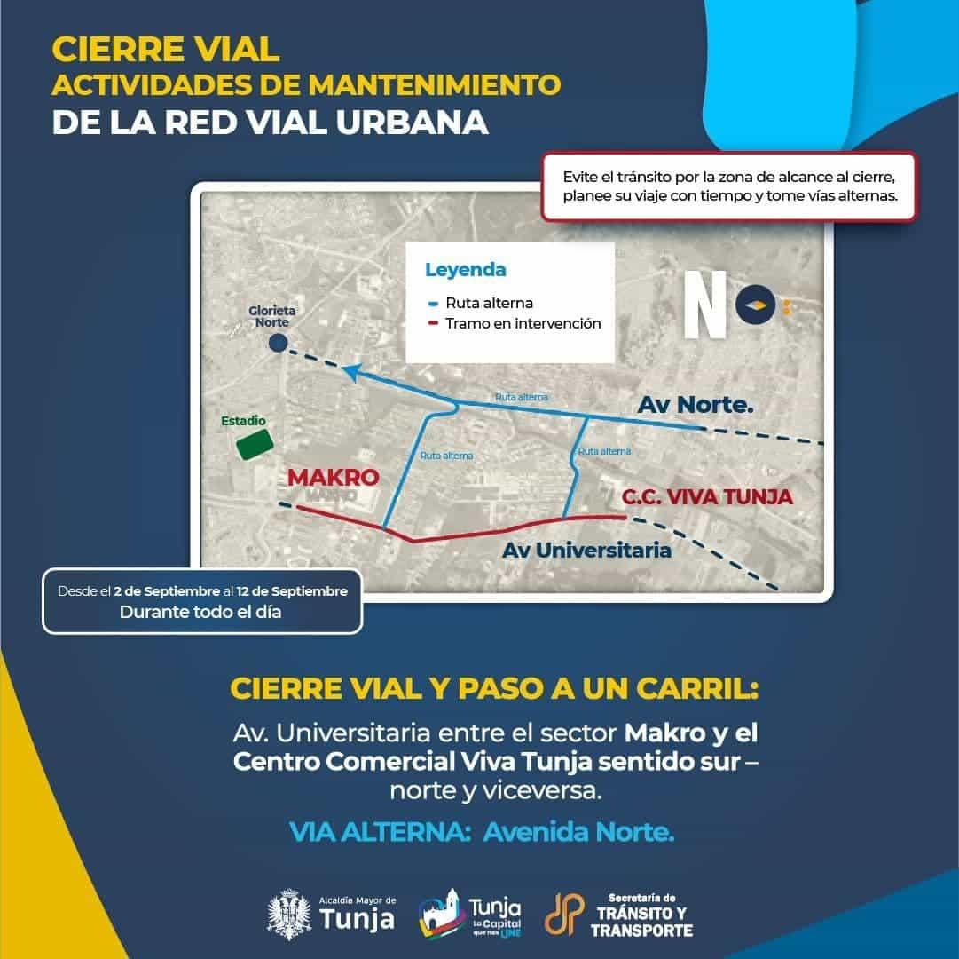 Tenga en cuenta que este jueves arranca el plan de mantenimiento vial en Tunja, busque vías alternas 3
