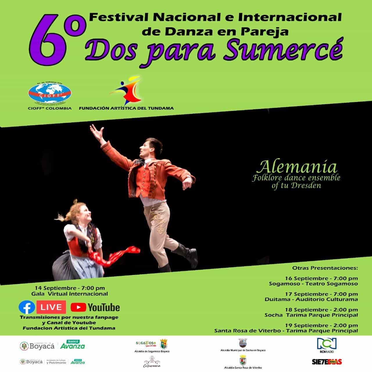 """""""Dos para sumerced"""", el evento que reúne la danza en pareja del mundo en Boyacá 2"""
