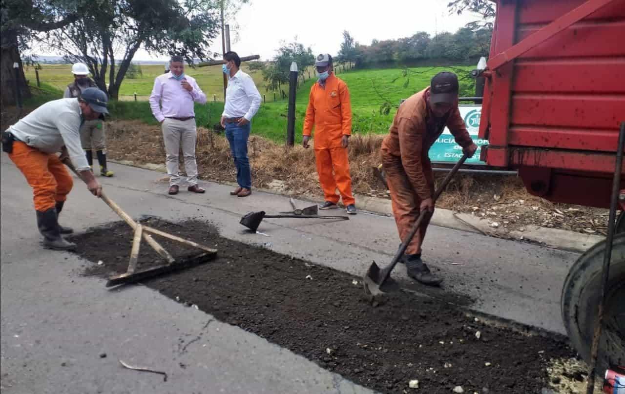 Así avanza el mejoramiento de la vía Chivatá - Toca 1