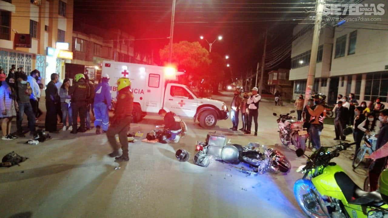 Dos heridos dejó accidente de tránsito en Sogamoso 1